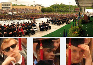 A Mosaic of images from Carnegie Mellon University's 2011 Commencement ceremony