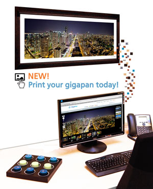 NEW! Print your gigapan now!